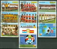Paraguay 3528/37 O Fußball-WM 1982 - Paraguay