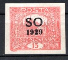 POLOGNE (SILESIE ORIENTALE) - 1920 -  N° 2C - 15 H. Rouge - (Timbre De Tchécoslovaquie) - Silesia (Alta & Baja)