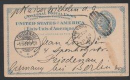 """MIT DEM """"KAISER WILHELM"""" NACH FRIEDENAU - SCHIFSPOST / 1897 USA - NEW YORK - GSK NACH DEUTSCHLAND (ref LE282) - Briefe U. Dokumente"""