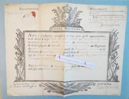 Congé Militaire 1734 - Infanterie - Régiment D'Agenois - Xaintonge Saintonge - Philisbourg - XVIIIè Siècle - Documentos Históricos