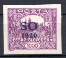 POLOGNE (SILESIE ORIENTALE) - 1920 -  N° 18 - 1000 H. Lilas - (Timbre De Tchécoslovaquie) - Schlesien (Ober- Und Nieder-)