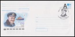 """RUSSIA 2019 ENTIER COVER 095 Used KUCHIEV Captain NUCLEAR ICEBREAKER """"ARKTIKA"""" ARCTIC POLAR NORD NORTH POLE EXPEDITION - Esploratori E Celebrità Polari"""