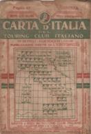 9494-CARTA D'ITALIA DEL TOURING CLUB ITALIANO-COSENZA-1938 - Carte Geographique