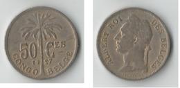 CONGO BELGE  50 CENTIMES  1927 - Congo (Belge) & Ruanda-Urundi