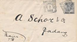 Nederlands Indië - 1903 - 10 Cent Opdruk Op Bontkraag, Envelop G14 Van VK TELOEKBETOENG Naar Padang - Nederlands-Indië