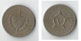 CUBA  5 CENT 1920 - Cuba