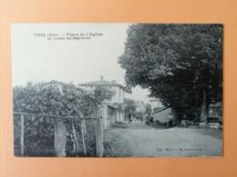Thil Place De L église Et Route De Beynost - France