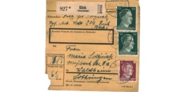 Allemagne  - Colis Postal  - Départ Eich ( Rheinhess )  -  Pour Waldheim  -  27-11-43 - Alemania