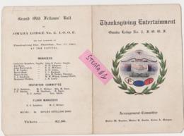 Vrijmetselarij, Franc-Maçonnerie,Free Masonry, Omaha Lodge 2 Old Rare Documents, COLLECTORS!!!!! - Documents Historiques