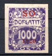 POLOGNE (SILESIE ORIENTALE) - 1920 -  Taxe - N° 11 - 1000 H. Violet - (Timbre De Tchécoslovaquie) - Schlesien (Ober- Und Nieder-)