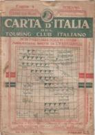 9495-CARTA D'ITALIA DEL TOURING CLUB ITALIANO-BERGAMO-1934 - Carte Geographique