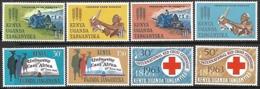 KUT  1963  Sc#136-43   Sets   MLH  2016 Scott Value $5.50 - Kenya, Uganda & Tanganyika