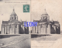 2 CPA De BENEVENT-L'ABBAYE (23) - EGLISE - ABSIDE - Benevent L'Abbaye
