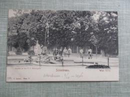 CPA AUTRICHE VIENNE WIEN CHATEAU DE SCHONBRUNN MENAGERIE ANIMEE - Schloss Schönbrunn
