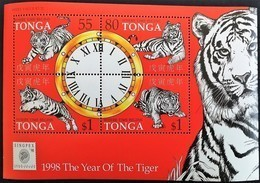 # Tonga 1998**Mi.1517-20 Chinese New Year - Year Of The Tiger , MNH [19;183] - Astrologie