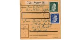 Allemagne  - Colis Postal  - Départ Birresborn ( Eifel ) - Allemagne