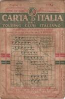9496-CARTA D'ITALIA DEL TOURING CLUB ITALIANO-SUSA-1937 - Carte Geographique