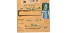 Allemagne  - Colis Postal  - Départ Wahn Heide  - Pour Kochern ( Cocheren ) - Allemagne