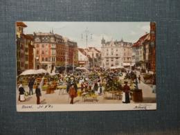 Basel Marktplatz Litho  1903/ (6069) - BS Bâle-Ville