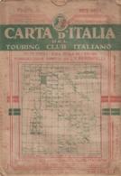 9497-CARTA D'ITALIA DEL TOURING CLUB ITALIANO-BRESCIA-1934 - Carte Geographique