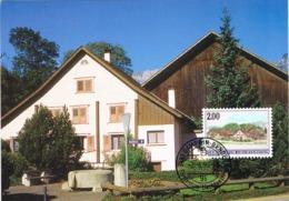33865. Tarjeta Maxima GAMPRIN - BENDERN (Liechtenstein) 1998, Dorfansichten - Cartas Máxima