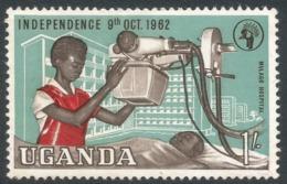 Uganda. 1962-64 Independence. 1/- MH. SG 105 - Uganda (1962-...)