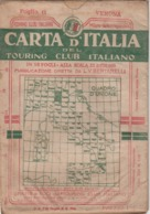 9498-CARTA D'ITALIA DEL TOURING CLUB ITALIANO-VERONA-1934 - Mapas Geográficas
