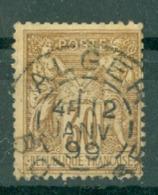 FRANCE - CAD ALGER (CATALOGUE MATHIEU) Du 12 JAN 99 - 1898-1900 Sage (Type III)