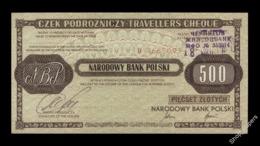POLAND 500 Zł Traveler's Cheque 1990 Russian Text UNC - Poland