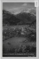 Schruns Im Montafon Mit Zimbaspitze - Stempel: Parthenen 22.6.1931 Nach Der Schweiz - Schruns