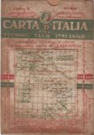 9500-CARTA D'ITALIA DEL TOURING CLUB ITALIANO-PISA-1934 - Carte Geographique