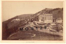 SUISSE LE RIGHI FIRST 1890 - CHEMIN DE FER DU TRAIN A CREMAILLERE - PHOTO A.GARCIN 15x10 Cms COLLEE SUR CARTON - Antiche (ante 1900)