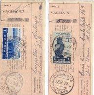 Due Riveute Vaglia Dalle Colonia Eritrea E Africa Orientale. - Sav - 1900-44 Vittorio Emanuele III