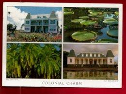 CP Mauritius Ile Maurice Colonial Charm Maison Quartier Des Pamplemousses Hôtel De Ville De Curepipe Jardin Botanique .. - Maurice