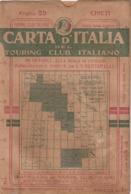 9501-CARTA D'ITALIA DEL TOURING CLUB ITALIANO-CHIETI-1934 - Carte Geographique