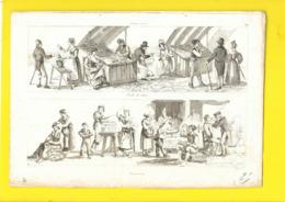 "SANTA LUCIA ""Frutti Di Mare"" & ""Macaronari"" Métiers Vogel Goutiere - Prints & Engravings"