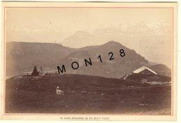 SUISSE LE RIGHI SCHEIDEGG VU DU RIGHI KULM 1890 - PHOTO A.GARCIN 15x10 Cms COLLEE SUR CARTON - Photos