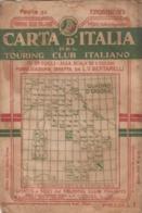 9502-CARTA D'ITALIA DEL TOURING CLUB ITALIANO-FROSINONE-1934 - Mapas Geográficas