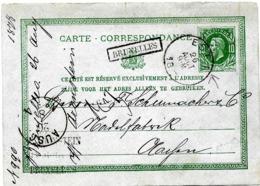 SH 0093. EP 8 C1c AMBULANT EST 1 - 26 AOÛT 78 + GRIFFE Encadrée BRUXELLES Vers L' Allemagne. TB - Stamped Stationery