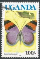 Uganda. 1980 Butterflies. 100/- Used. SG 753 - Uganda (1962-...)