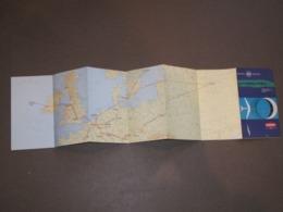 SABENA CARTE DES LIGNES EUROPEENNES - Mapas Geográficas
