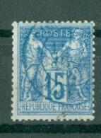 FRANCE - CAD CACHET BLEU ??? (CATALOGUE MATHIEU) BUREAU D'ALGER N° 90 - 1898-1900 Sage (Type III)