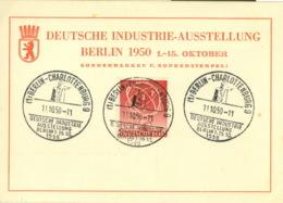 Berlin 71 Auf Sonderkarte Sonderstempel Industrieausstellung - Berlin (West)