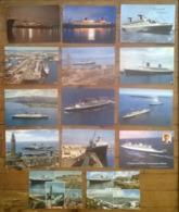 Lot De 14 Cartes Postales / Paquebot FRANCE / Le HAVRE / Compagnie Générale Transatlantique - Fähren