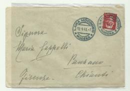 FRANCOBOLLO LIRE 2 IMPERIALE SU BUSTA 1945 - 5. 1944-46 Lieutenance & Umberto II