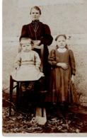 Foto Mit Frau Und 2 Kindern Ca 1910 Silberbromidkarte - Fotografie