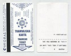 Ticket De Tramway - Sarajevo, Bosnie Herzégovine, Bosnia, Bosna, Bosnien. 2017 - Europe