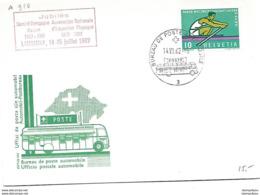 """166 - 58 - Carte Pen Avec Rare Oblit Spéciale """"Jubilé Comité Olympique Suisse 1962 Lausanne"""" - Marcophilie"""