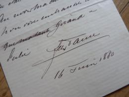 Félix FAURE (1841-1899) PRESIDENT De La REPUBLIQUE. AUTOGRAPHE - Autografi