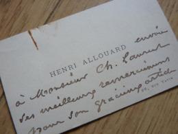 Henri ALLOUARD Peintre CDV - Autographes